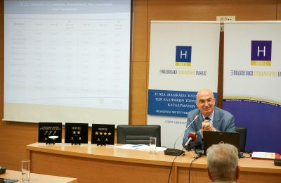 Hellenic Chamber of Hotels President Yiorgos Tsakiris.