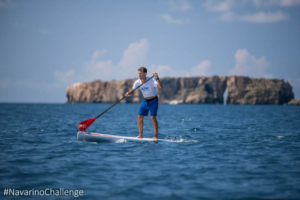 "Stand Up Paddling in the port of Pylos at ""Navarino Challenge"". Photo credit: Elias Lefas"