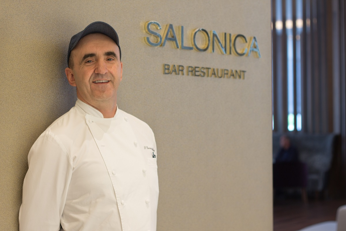 Macedonia Palace Chef Sotiris Evangelou.