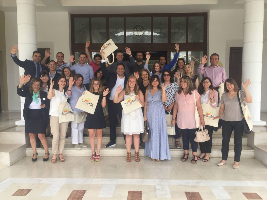 Travelive seminar participants at the Aldemar Royal Mare Hotel in Hersonissos.