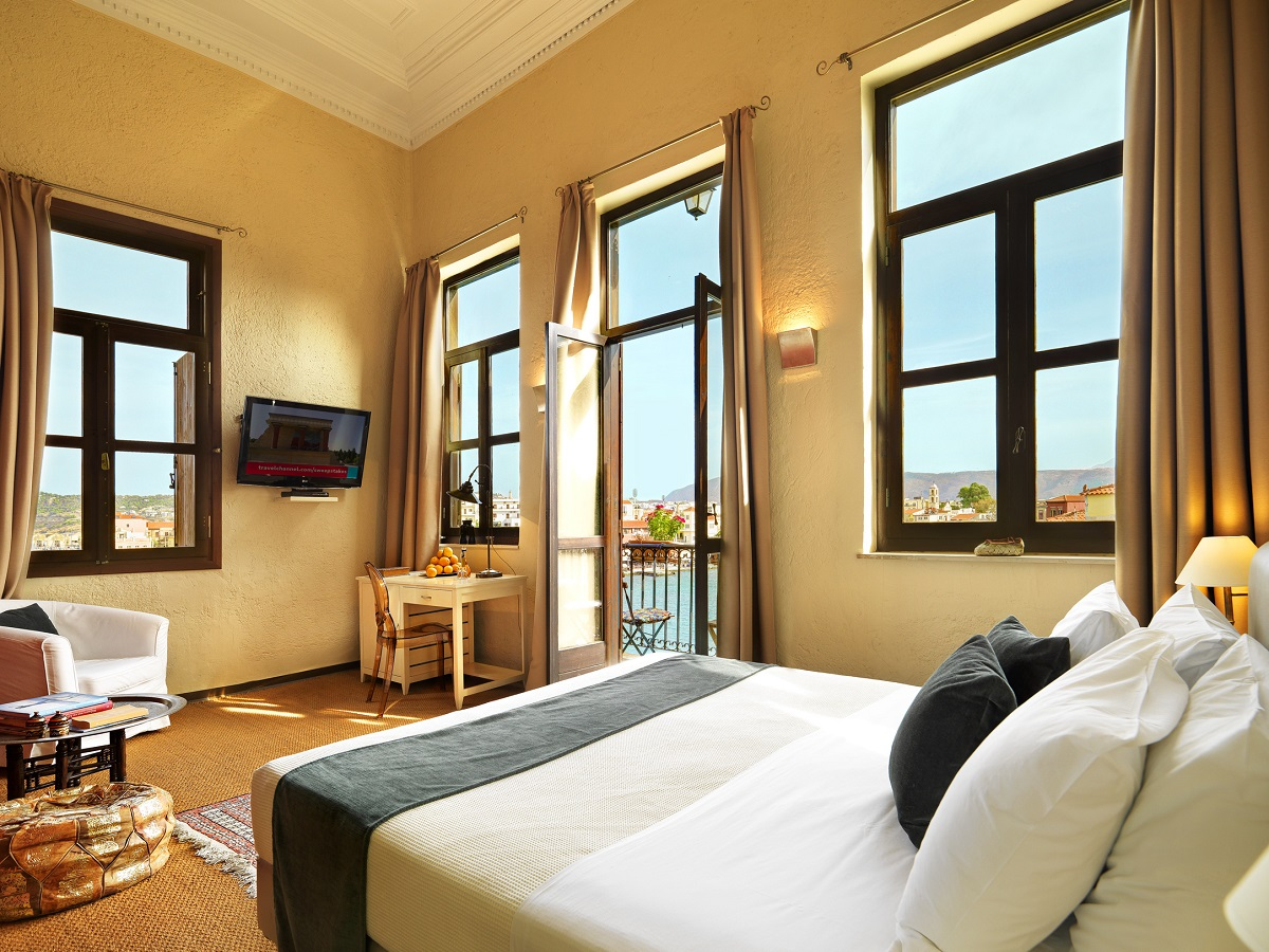 Aria Hotels' Alcanea Boutique Hotel at the Old Port of Chania.
