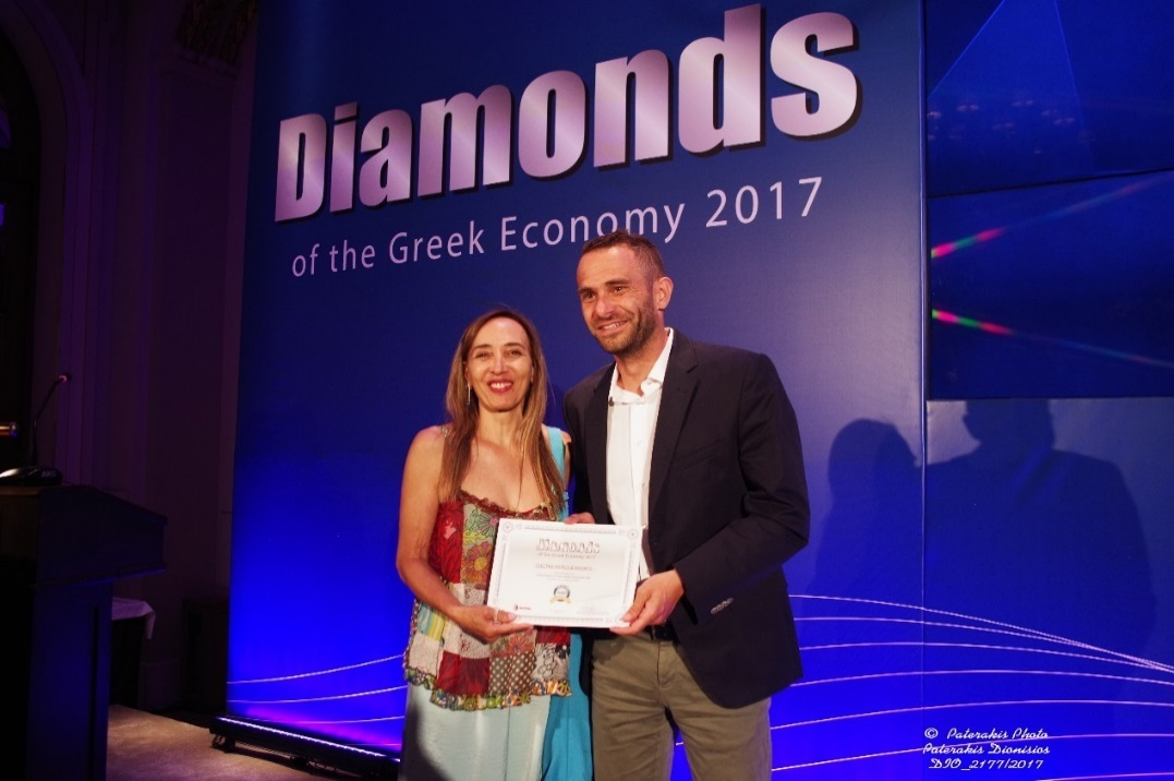 New Times Publishing Tourism Business Development Manager Margarita Manousou and Electra Hotels and Resorts Director of Sales Konstantinos Sdralis