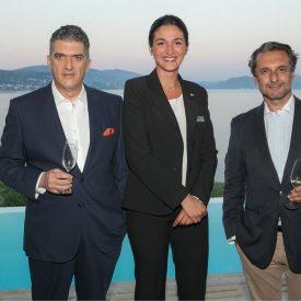Giorgos Drakopoulos, Special Advisor to the Secretary General, UNWTO; Fani Delliou, Les Roches student; Orestis Darsinos, MD, Canikon SA.