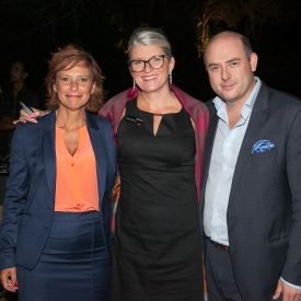 Vana Saade, Regional Director Southern Europe, Middle East & Northern Africa, Les Roches; Fabienne Rollandin, Executive Director External Relations, Glion Institute of Higher Education; Giannis Stasinopoulos, Managing Partner, Luxury Concierge.