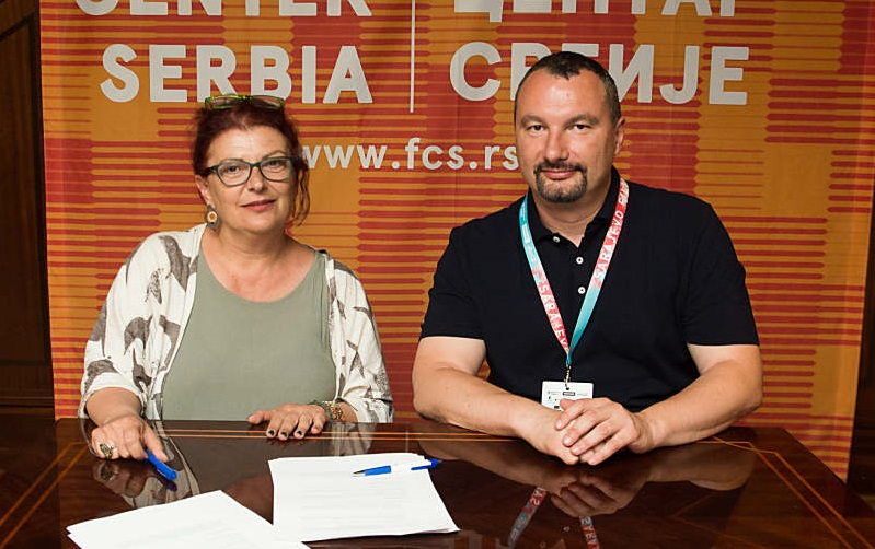 Greek Film Center director General Electra Venaki and Film Center Serbia director Boban Jevtić.