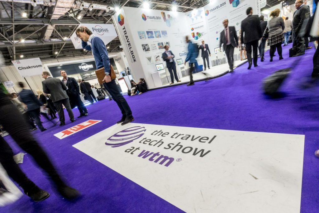 World Travel Market 2016, ExCeL London. Travel Tech Show Floor