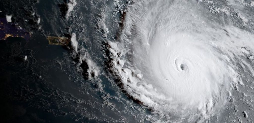 Hurricane Irma via Satellite Image provided by the National Oceanic and Atmospheric Administration (NOAA).