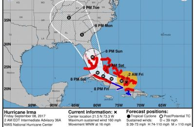 Source: National Hurricane Center, US Dept of Commerce, National Oceanic and Atmospheric Administration