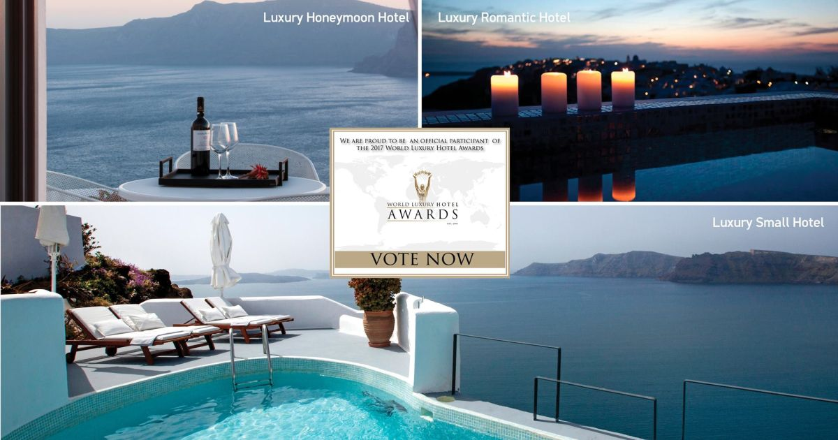 Ikies traditional houses on santorini nominated in 2017 for Hotel luxury awards 2017