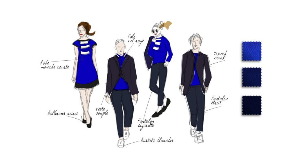 With its chic sportswear look, the uniform of Joon's 140 flight attendants reflects the spirit of the company. The uniform is made up of classic and modern garments, with slimline trousers, sneakers, redesigned sailor stripes and a sleeveless quilted jacket. The uniforms have been designed with recycled fabrics made from plastic bottles.