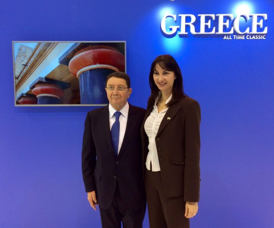 UNWTO Secretary General Taleb Rifai and Greek Tourism Minister Elena Kountoura. (Archive photo)