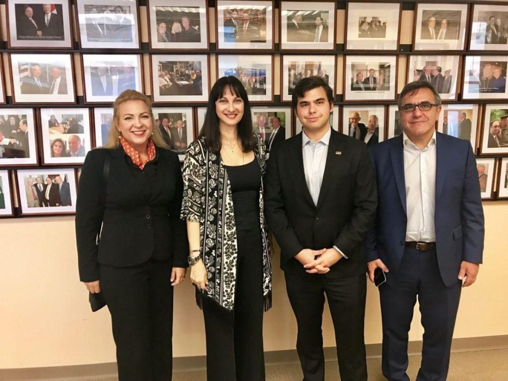 Greek Tourism Minister Elena Kountoura with John Catsimatidis Jr, Red Apple Group, GNTO Secretary General Kostas Tsegas and GNTO Director (US and Canada office) Greta Kamaterou.
