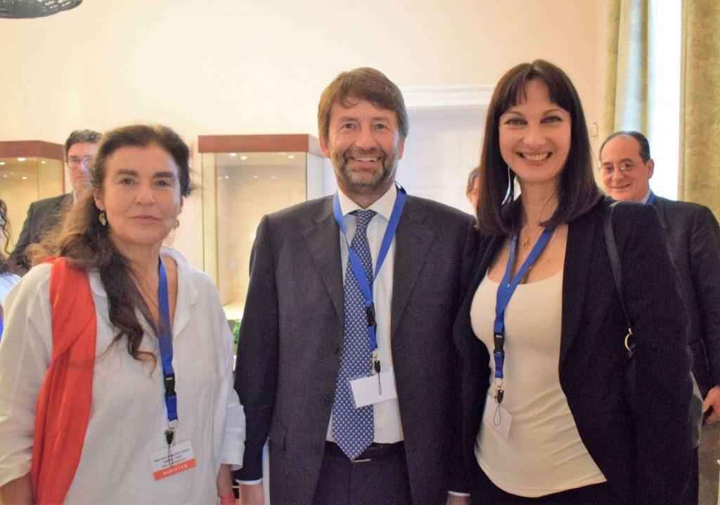 Greek Culture Minister Lydia Koniordou, Italy's minister for Cultural Goods of Activities and Tourism, Dario Francescini and Greek Tourism Minister Elena Kountoura.
