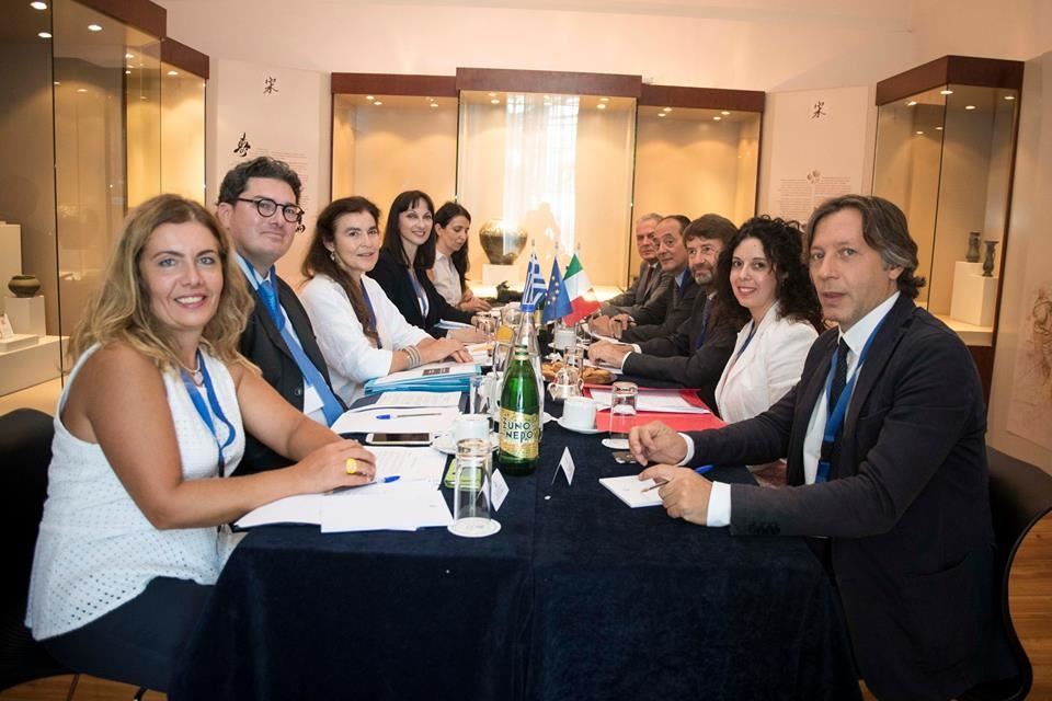 A meeting between the Ministers of Culture and Tourism of Greece and Italy was held on the sidelines of the 1st Intergovernmental Conference between Greece and Italy.