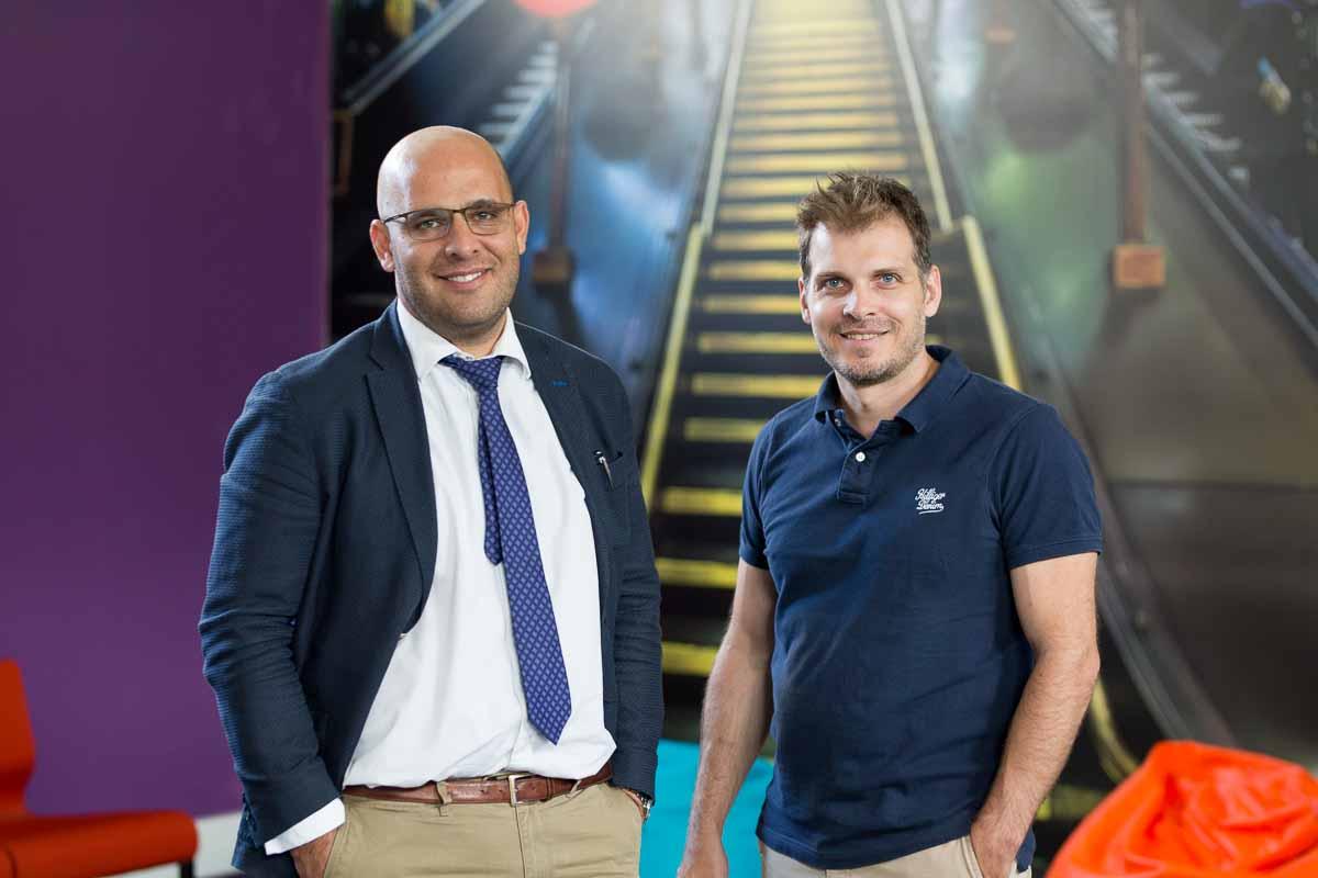 The founders of obqo Branding Agency: (from right) Christoforos Mavromatis and Michael Antoniou.