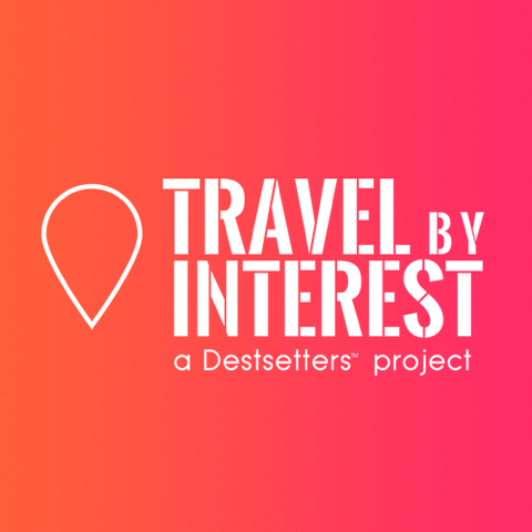 Travel by Interest - a Destsetters Project logo