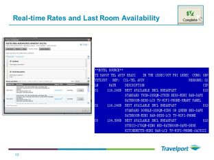 Real-time Rates and Last Room Availability