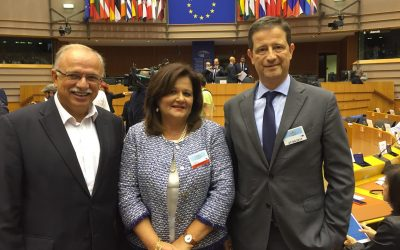 European Parliament Vice President Dimitris Papadimoulis; President of the Standing Committee of Production and Trade, Hellenic Parliament Hara Kafantari;Secretary General for Tourism Policy and Development Georgios Tziallas.
