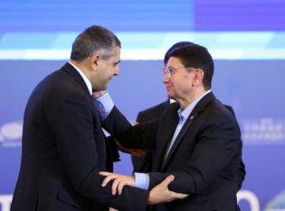 Zurab Pololikashvili with former UNWTO Secretary General Teleb rifai.
