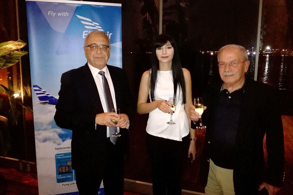 Stavros Daliakas, director of Ellinair (L) with Dinos Frantzeskakis, managing director of Discover The World Greece & Cyprus and Ellinair's representative.