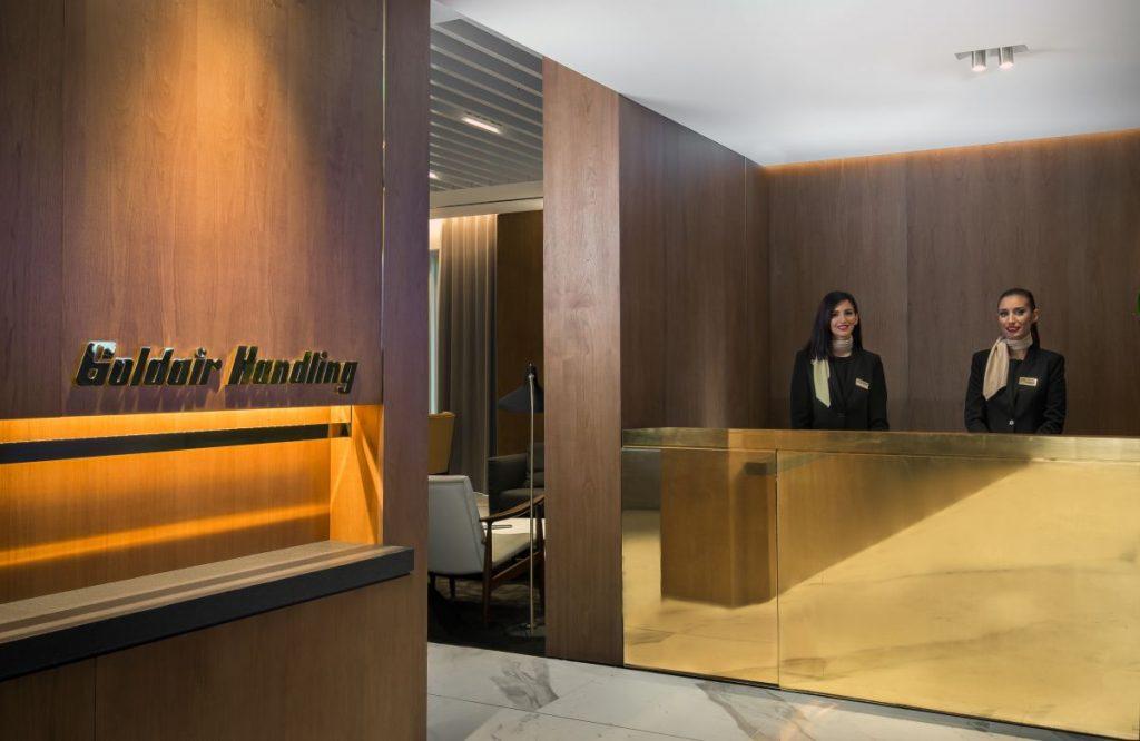 Goldair Handling lounge at Athens International Airport (Extra Schengen).