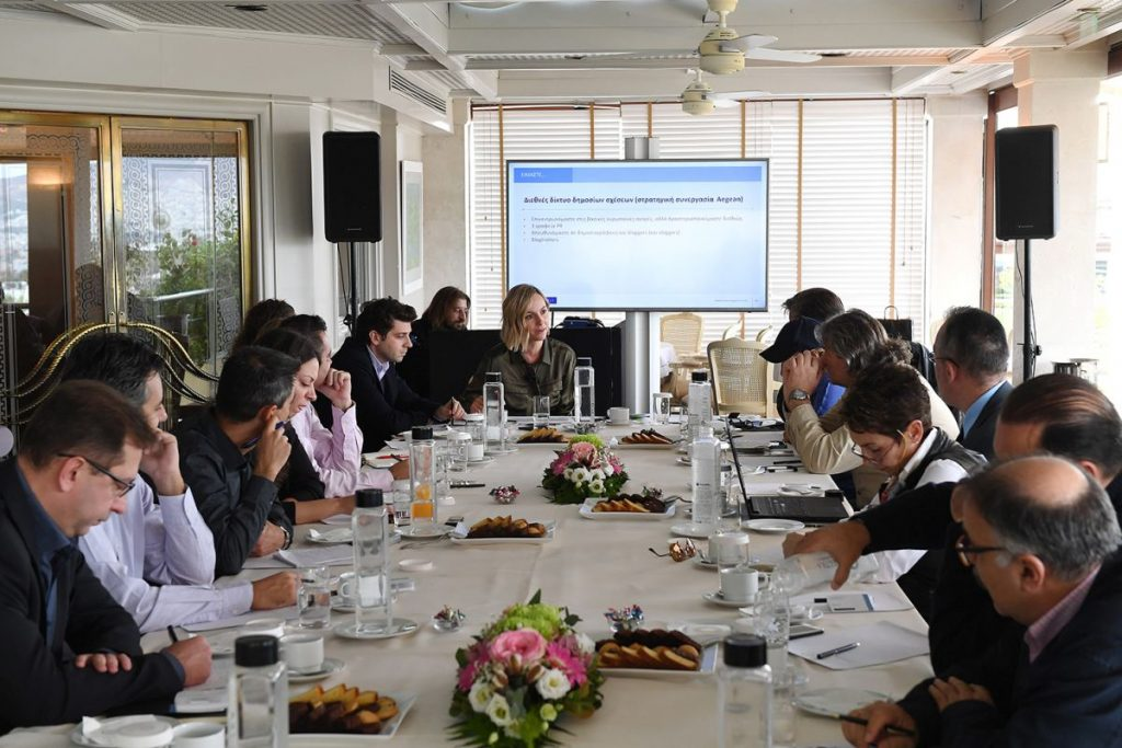 Marketing Greece CEO Ioanna Dretta presenting the company's plans to the Greek media.