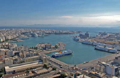 The port of Piraeus. Photo Source: Municipality of Piraeus