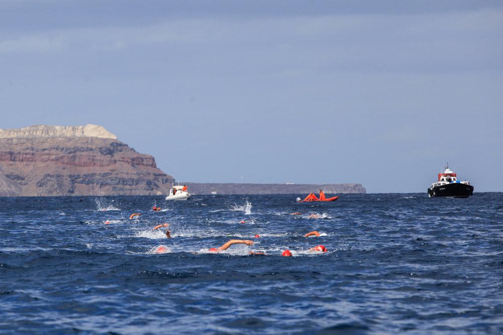 "Open Water Swimming at ""Santorini Experience"". Photo by Babis Giritziotis"