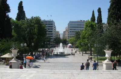 Syntagma Square, central Athens.