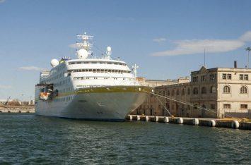 Cruise ship at Thessaloniki Port.
