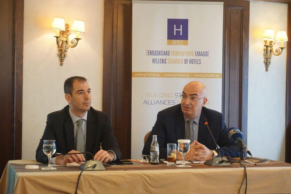Grant Thornton Director Dr. Panagiotis Prontzas and Hellenic Chamber of Hotels President Yiorgos Tsakiris. Photo credit: GTP