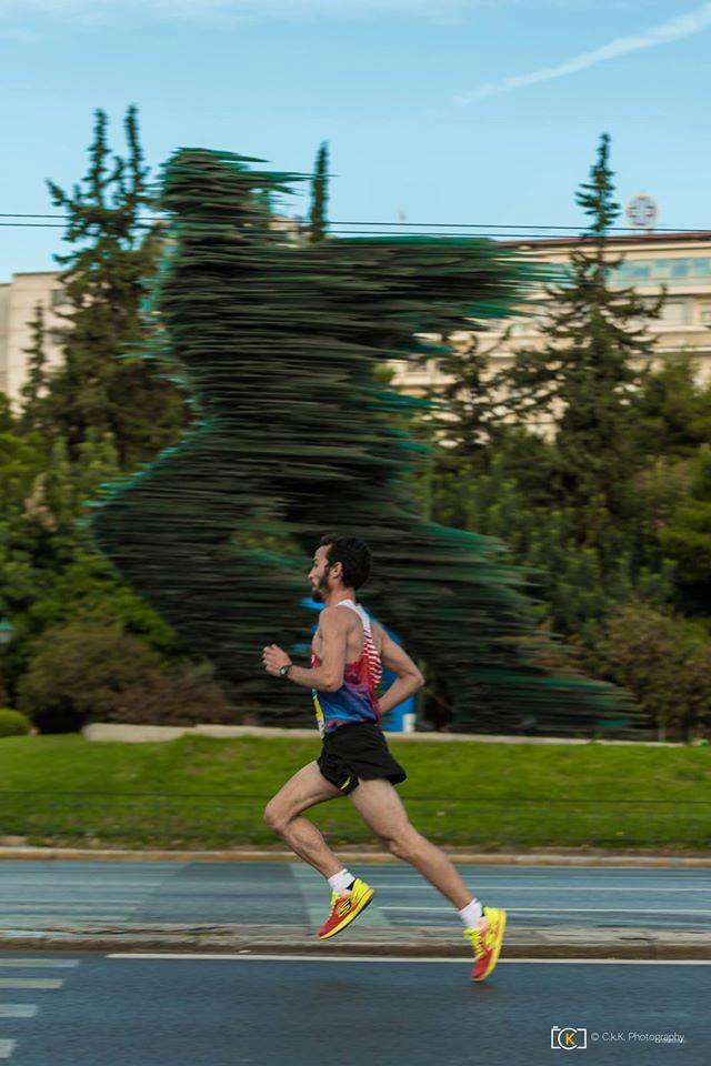 Winner of 10km run (men's category): Christos Kallias. Photo source: SEGAS