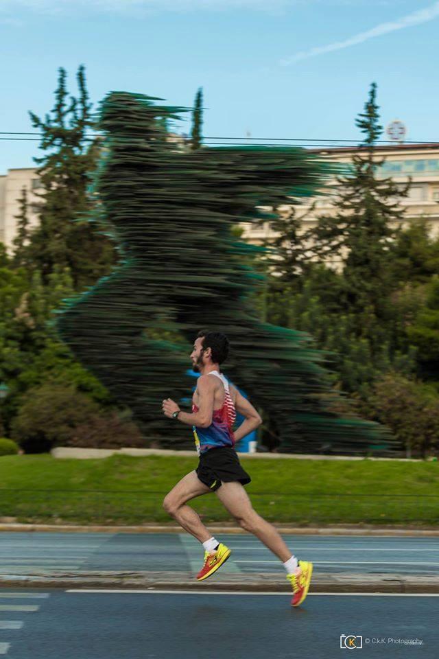 Winner of 10km run (men's category): Christos Kallias. Photo source: SEGAS