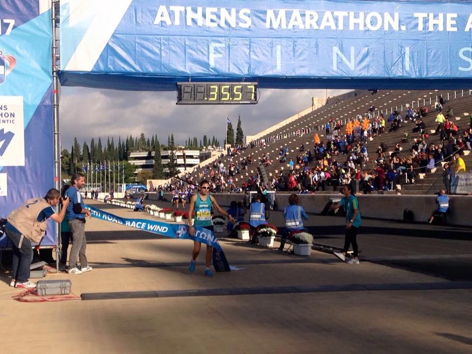 Winner of 10km run (women's category): Eleftheria Petroulaki. Photo source: SEGAS
