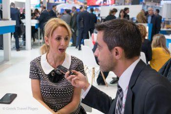 MEAS Triton President Christina Karamichos speaking to GTP's Managing Editor Nikos Krinis.