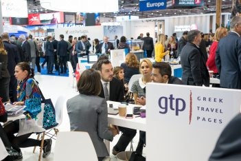 Central Macedonia Vice Governor for Tourism & Culture Thanos Alexandros at the GTP stand at WTM 2017 in London.