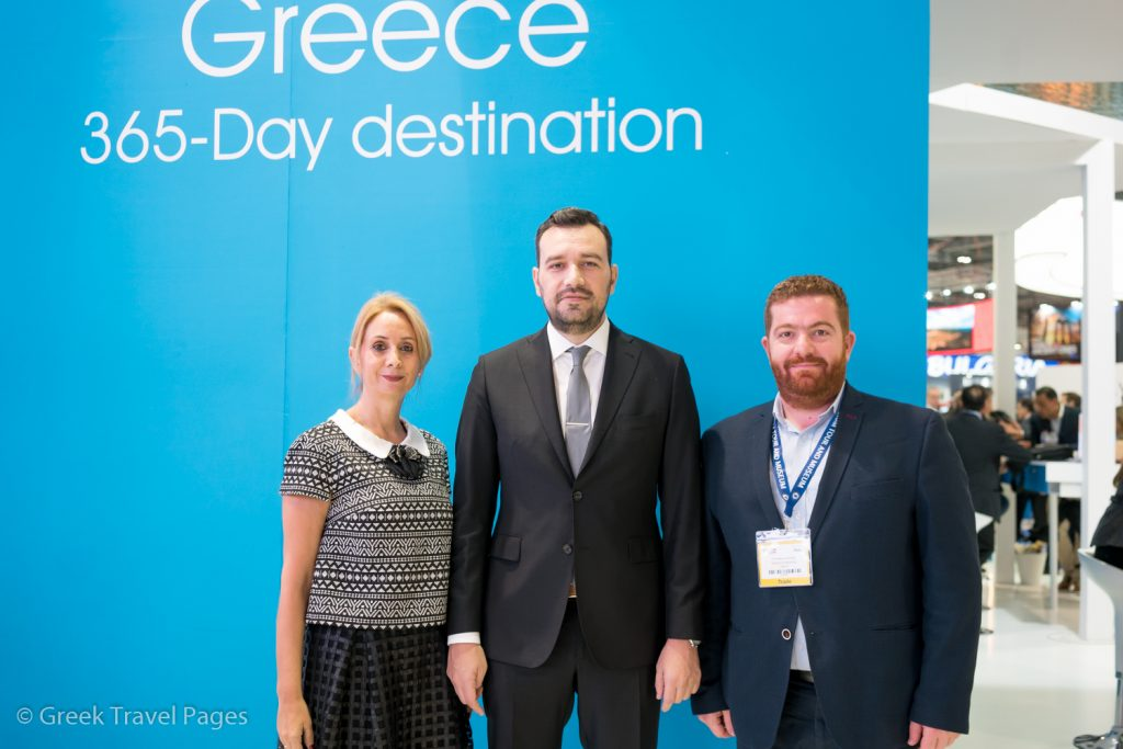 MEAS Triton President Christina Karamichos, Central Macedonia Vice Governor for Tourism & Culture Thanos Alexandros, Tourism Development Consultant for Thessaloniki marathons Christoforos Aivazidis.