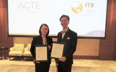 Katrina Leung, executive director of Messe Berlin (Singapore) and Benson Tang, regional director Asia of the Association of Corporate Travel Executives (ACTE).