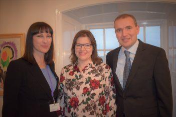 Greek Tourism Minister Elena Kountoura met withthe President of Iceland Guðni Thorlacius Jóhannesson and First Lady Eliza Reid.