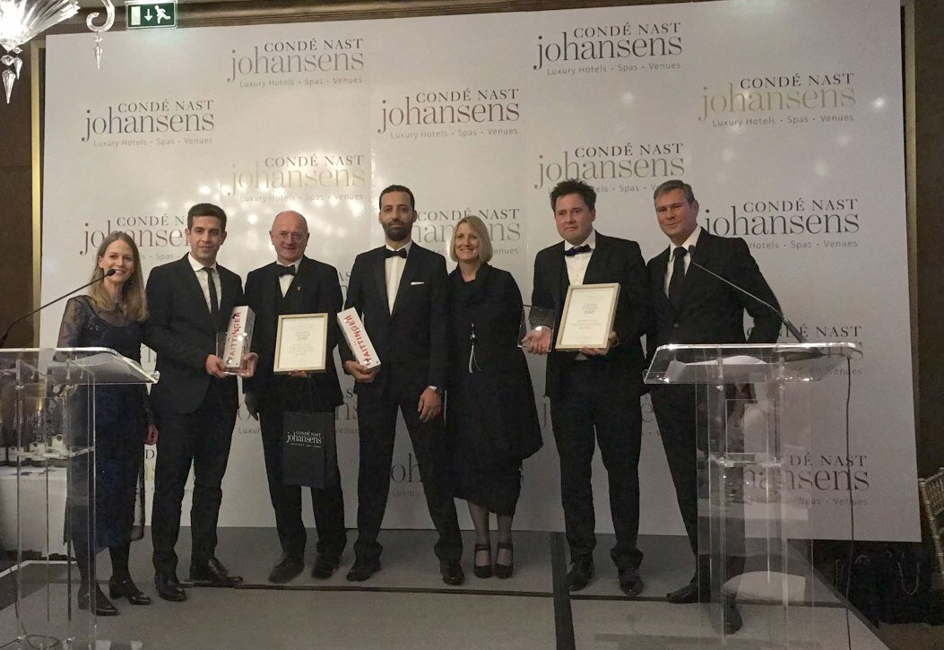 Lesante blu luxury hotel honored at cond nast johansens for Luxury hotel awards