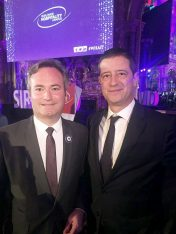 French Minister of State Jean-Baptiste Lemoyne and Secretary General for Tourism Policy Giorgos Tziallas,