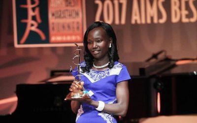 Kenyan long distance runner Mary Keitany.