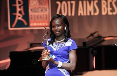 Kenyan long distance runner Mary Keitany.