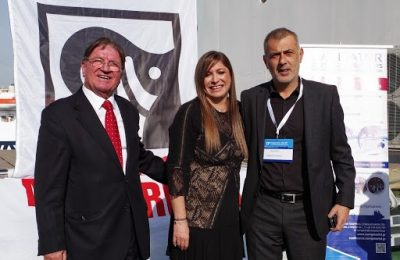 Dimitris Bezantakos, President, Navigator Shipping Consultants; Danae Bezantakou, CEO, Navigator Shipping Consultants; Ioannis Moralis, Mayor of the Municipality of Piraeus.