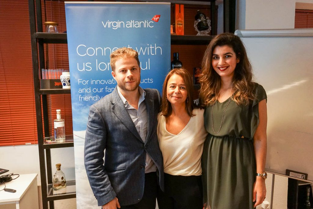 Nikos Frantzeskakis, Discover The World Greece & Cyprus Sales Development Manager MICE and New Technologies; Ioanna Nomidou, Virgin Atlantic Sales Executive Greece and Cyprus; and Mara Iliadelli, Discover The World Greece & Cyprus Sales Executive.