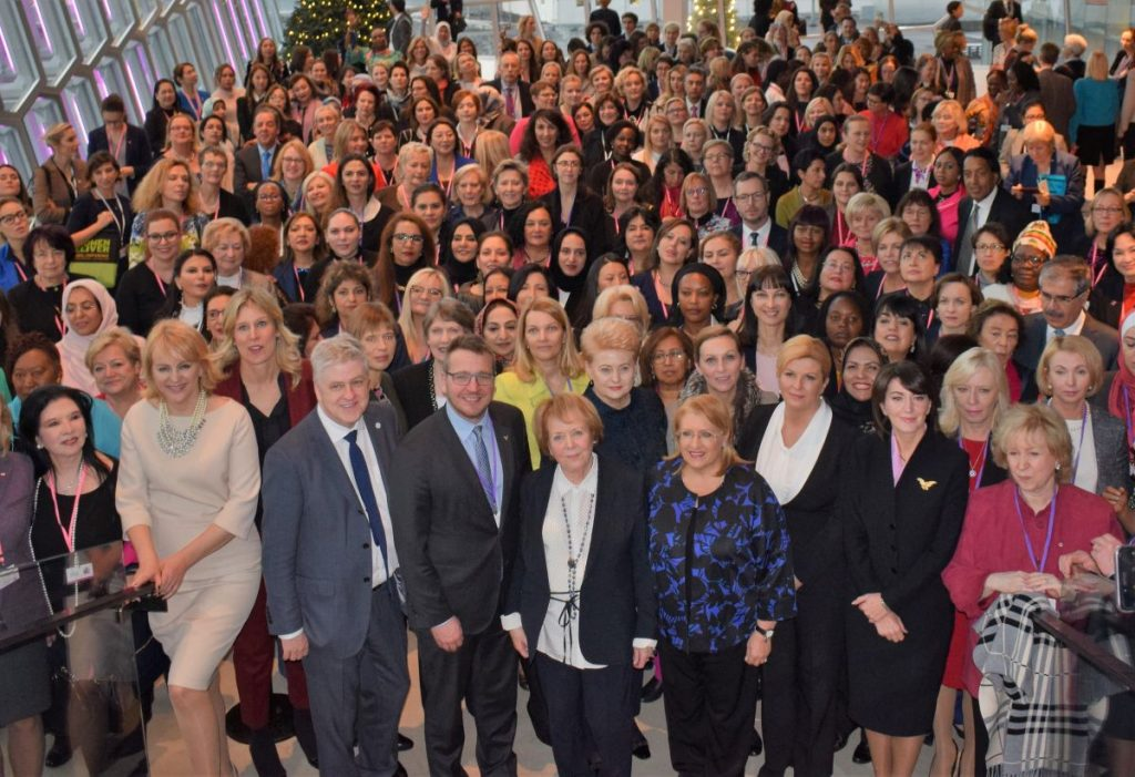 Women Political Leaders Annual Global Summit (WPL) 2017 family photo.
