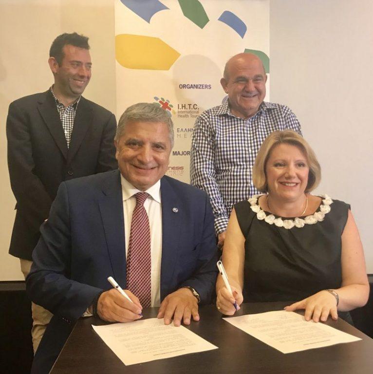 KEDE President Yiorgos Patoulis and MAV President Mary Lalios.