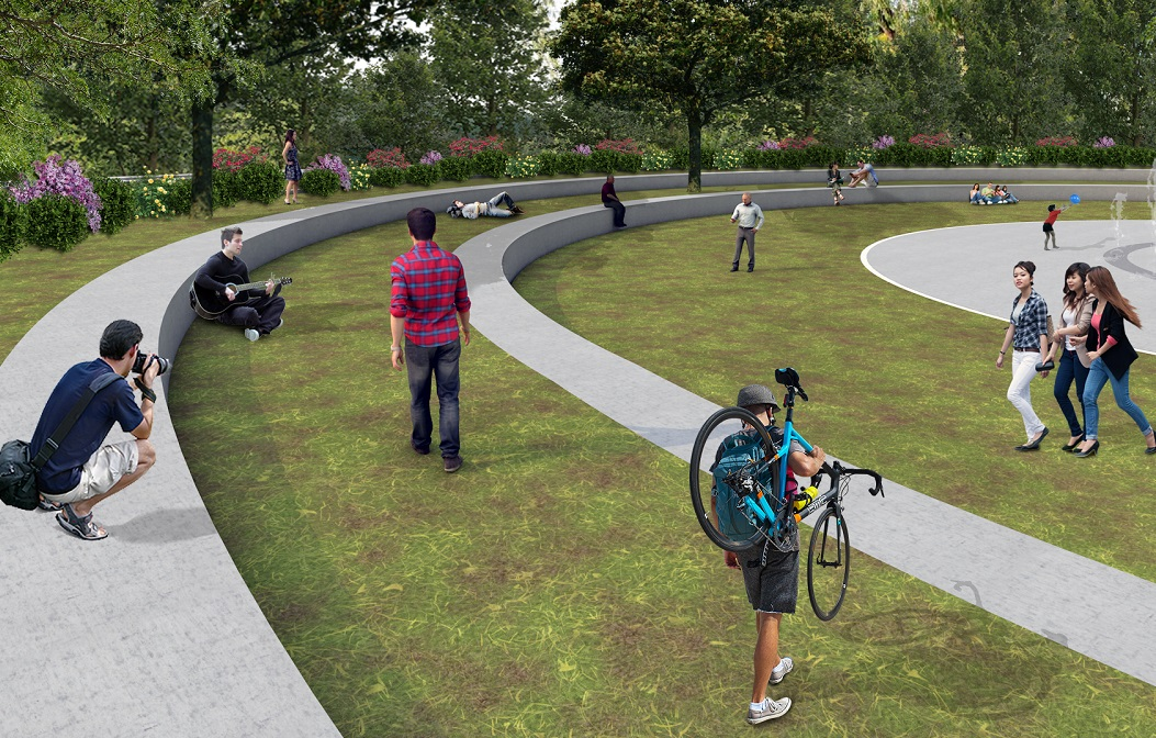 Impression of the metropolitan park to be created in Eleonas.