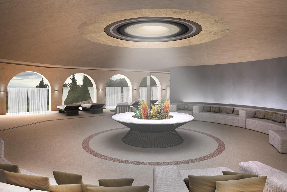 Euphoria Retreat: Pool relaxation area.