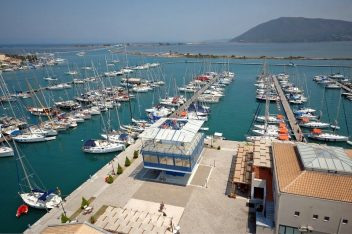 Marina on Lefkada island. Photo Source: Greek Marinas Association